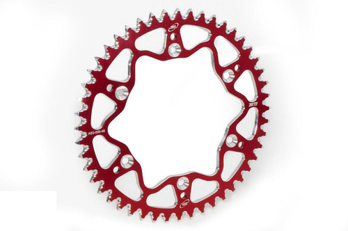 GAS GAS EC XC 125 200 250 300 1999-2020 AS3 7075 ALUMINIUM REAR SPROCKET 48T RED