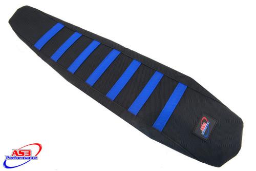 HUSQVARNA TC TE FC FE 125-501 16-17 AS3 PERFORMANCE RIBBED GRIPPER SEAT COVER BLUE