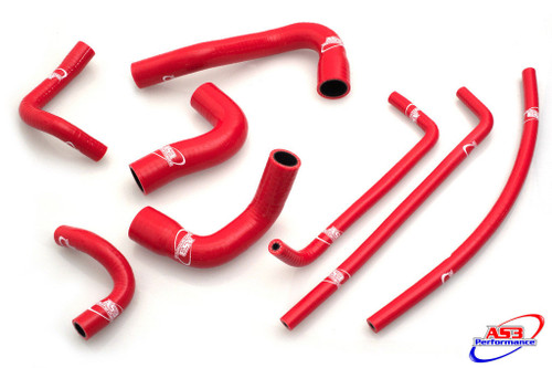 YAMAHA MT09 MT-09 FZ09 FZ-09 2013-2016 HIGH PERFORMANCE SILICONE RADIATOR HOSES RED
