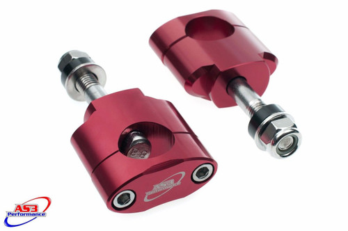SWM RS 300 500 R 2016-2020 28.6MM OVERSIZE FAT BAR HANDLEBAR MOUNTS CLAMPS 10MM RED