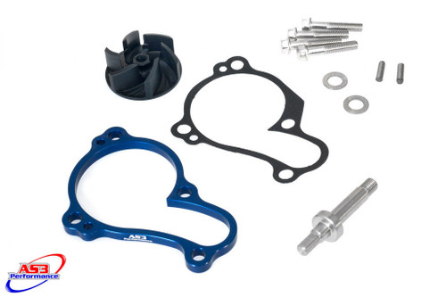 YAMAHA YZF 450 2014-2021 YZ 450 FX WRF 450 2016-2021 AS3 OVERSIZED WATER PUMP IMPELLER COOLER COOLING KIT BLUE