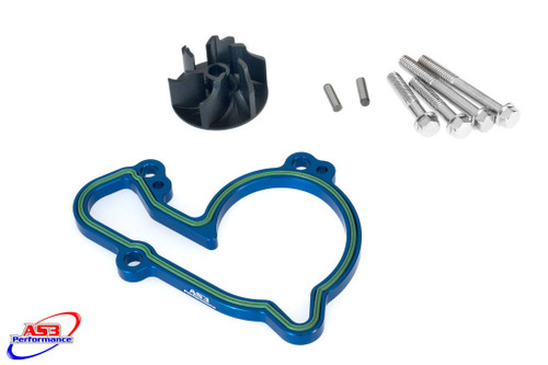 HUSQVARNA FC 250 350 14-15 FE 14-16 AS3 OVERSIZED WATER PUMP IMPELLER COOLER KIT BLUE