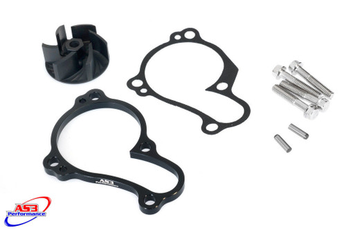 YAMAHA YZF 450 2010-2013 AS3 OVERSIZED WATER PUMP IMPELLER COOLER COOLING KIT BLACK