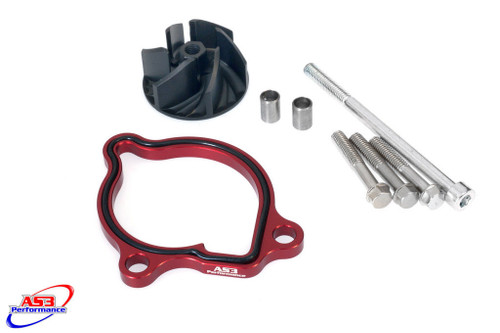 HONDA CRF 450 R 2009-2016 AS3 OVERSIZED WATER PUMP IMPELLER COOLER COOLING KIT RED