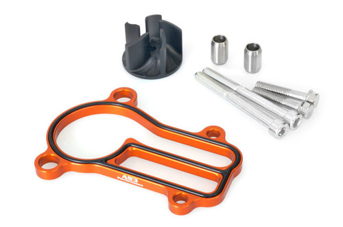KTM 250 SX 03-16 300 EXC 04-16 XC AS3 OVERSIZED WATER PUMP IMPELLER COOLER KIT ORANGE