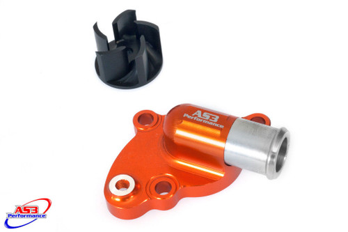 KTM 85 SX 2003-2017 AS3 OVERSIZED WATER PUMP and IMPELLER COOLER COOLING KIT