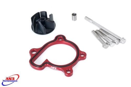 HONDA CRF 250 R 04-09 250 X 04-17 AS3 OVERSIZED WATER PUMP IMPELLER COOLER KIT RED