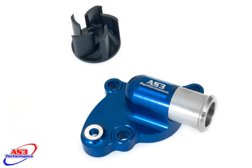 HUSQVARNA TC 85 2014-2017 AS3 OVERSIZED WATER PUMP and IMPELLER COOLER COOLING KIT BLUE