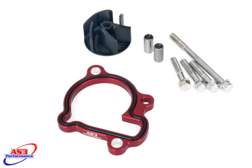 HONDA CRF 250 R 2010-2017 AS3 OVERSIZED WATER PUMP IMPELLER COOLER COOLING KIT RED
