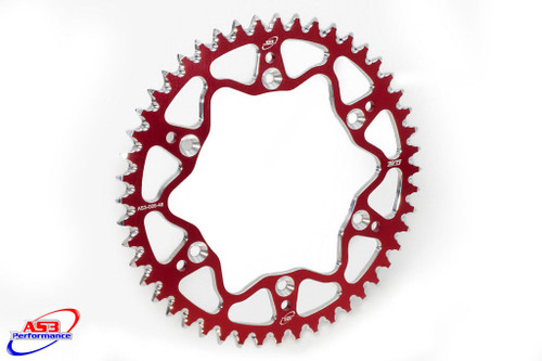BETA 250 350 400 450 520 RR 2005-2012 AS3 7075 ALUMINIUM REAR SPROCKET 52T RED
