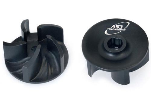 KTM 50 65 125 150 200 250 300 SX EXC AS3 BILLET ALUMINIUM WATER PUMP IMPELLER BLACK