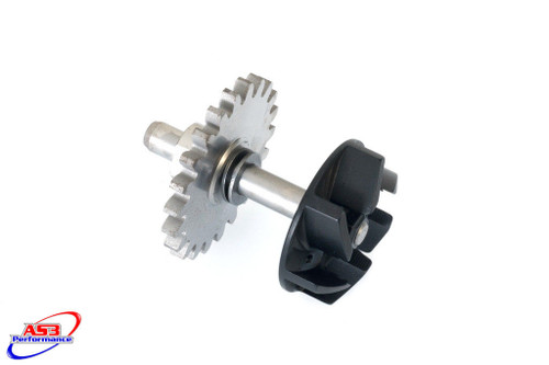 YAMAHA YZ 125 2005-2020 AS3 ONE PIECE WATER PUMP IMPELLER GEAR and SHAFT UPGRADE BLACK