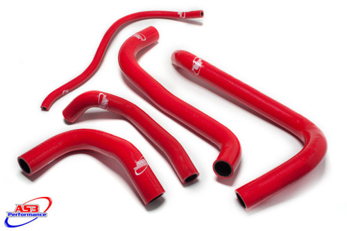 HONDA CBR 1100 XX BLACKBIRD 1998-2007 HIGH PERFORMANCE SILICONE RADIATOR HOSES RED