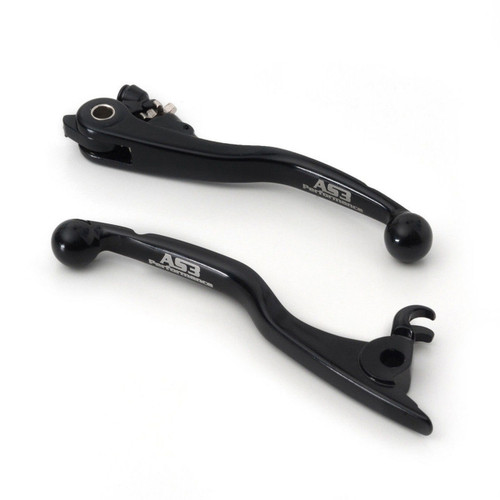 HUSABERG TE 125 2012-2013 FRONT BRAKE and CLUTCH LEVERS SET BLACK