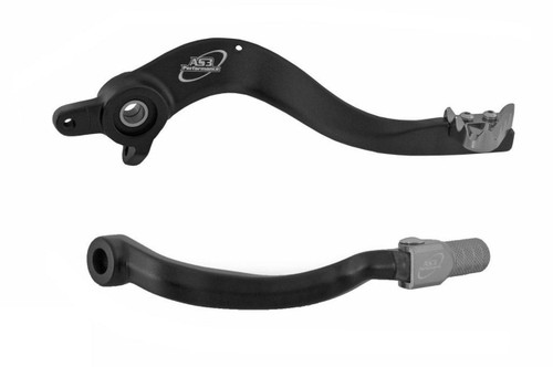 HUSABERG FE 250 450 501 13-14 AS3 FACTORY SERIES REAR BRAKE PEDAL and GEAR LEVER BLACK
