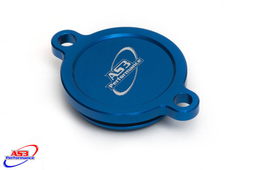 KAWASAKI KXF KX-F 450 2016-2018 ALUMINIUM OIL FILTER CAP COVER BLUE