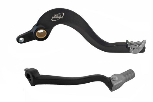 YAMAHA YZF 250 2014-2018 YZ 250 FX 2015-2019 WRF 250 2016-2019 AS3 FACTORY SERIES FORGED REAR BRAKE PEDAL and GEAR LEVER BLACK