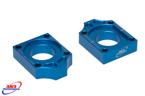 YAMAHA YZ 125 250 2002-2021 YZF 250 426 450 2001-2008 WRF 250 426 450 2001-2021 CHAIN ADJUSTERS REAR AXLE BLOCKS BLUE