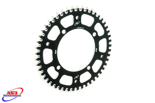 KAWASAKI KX 80 85 100 1983-2020 AS3 PERFORMANCE 7075 ALUMINIUM REAR SPROCKET 47T BLACK