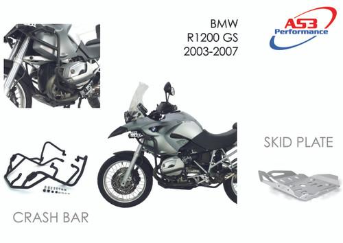 BMW R 1200 GS 2003-2007 AS3 PERFORMANCE ALUMINIUM SKID
