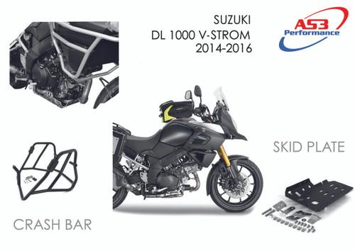 SUZUKI DL 1000 V-STROM 2014-2016 AS3 ALUMINIUM SKID PLATE