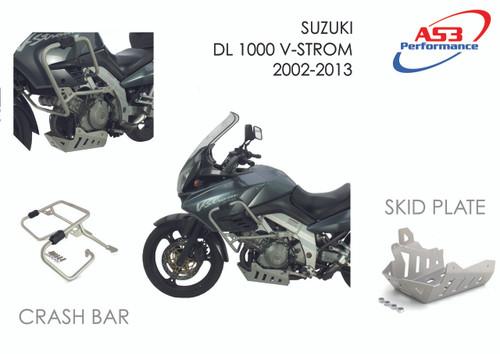 SUZUKI DL 1000 V-STROM 2000-2013 AS3 ALUMINIUM SKID PLATE
