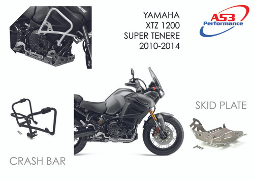 YAMAHA XT 1200 Z SUPER TENERE 2010-2014 AS3 ALUMINIUM SKID