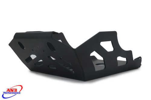 KTM 950 990 ADVENTURE 2002-2012 AS3 ALUMINIUM SKID PLATE SUMP BASH GUARD BLACK
