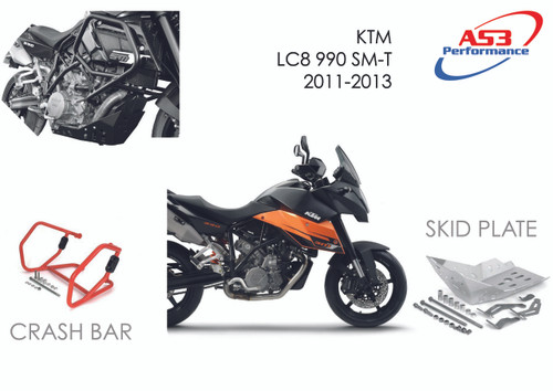 AS3 PERFORMANCE CRASH BARS GUARDS to fit KTM 990 LC8 SM-T