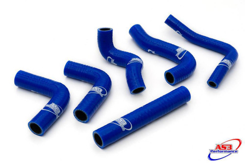 BETA 250 300 RR 2016-2019 AS3 PERFORMANCE SILICONE RADIATOR HOSES BLUE