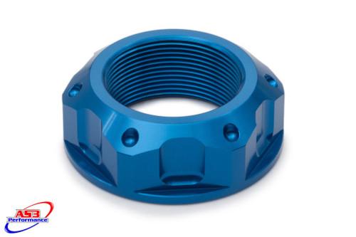 SUZUKI GSXR 600 97-05 750 96-05 1000 01-02 AS3 TOP YOKE STEERING STEM NUT BLUE