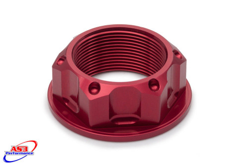 KAWASAKI ZX6R 95-02 ZX9R 00-03 ZZR 600 90-97 AS3 TOP YOKE STEERING STEM NUT RED