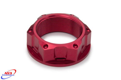 SUZUKI GSXR 600 750 06-18 GSXR 1000 03-18 AS3 TOP YOKE STEERING STEM NUT RED
