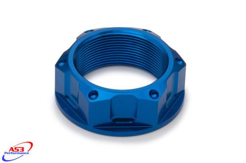 SUZUKI GSXR 600 750 06-18 GSXR 1000 03-18 AS3 TOP YOKE STEERING STEM NUT BLUE