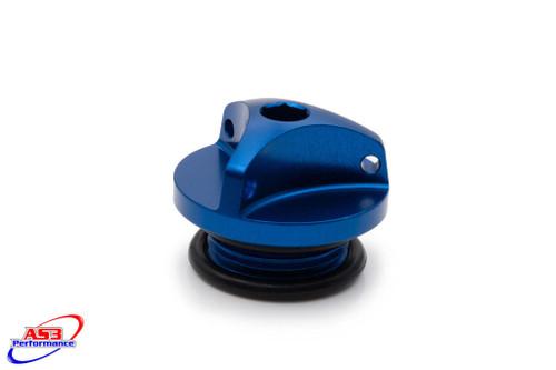 SUZUKI GSXR 400 600 750 1000 1100 88-18 AS3 PERFORMANCE OIL FILLER PLUG BLUE