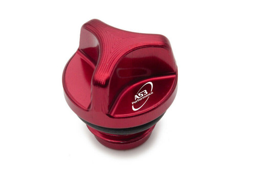 HONDA CRF 250 R RX 2018-2020 AS3 PERFORMANCE ALUMINIUM OIL FILLER PLUG RED