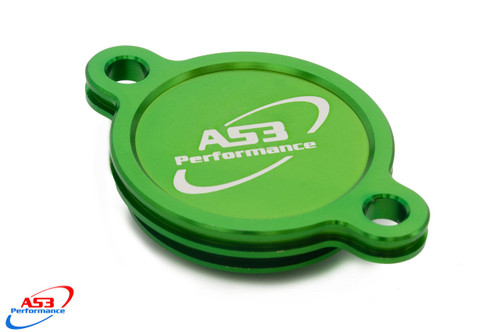 KAWASAKI KX KXF KX-F 450 2019-2020 AS3 PERFORMANCE OIL FILTER CAP COVER GREEN