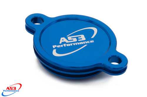 KAWASAKI KX KXF KX-F 450 2019-2020 AS3 PERFORMANCE OIL FILTER CAP COVER BLUE