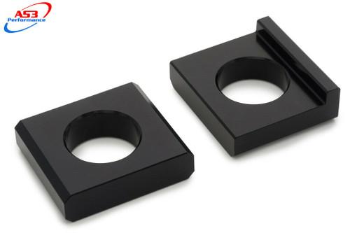 YAMAHA YZF 1000 R1 R1M 2004-2018 AS3 CHAIN ADJUSTERS REAR AXLE BLOCKS BLACK