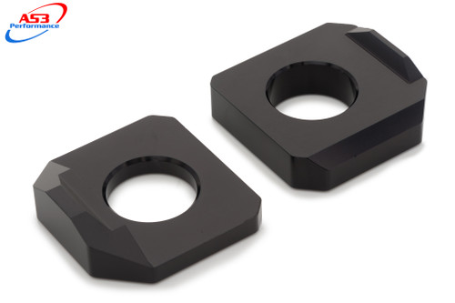 SUZUKI GSR 650 06-10 GSX 1250 FA 10-16 AS3 CHAIN ADJUSTERS REAR AXLE BLOCKS BLACK