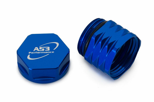 HUSQVARNA TE TX FE FX 125-501 18-20 AS3 REAR BRAKE RESERVOIR COOLING EXTENSION BLUE