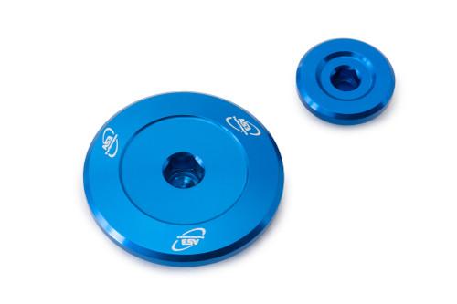 YAMAHA YZF 250 2014-2021 YZF 450 2010-2021 WRF 250 450 YZ 250 450 FX 2015-2021 ALUMINIUM ENGINE PLUG KIT BLUE