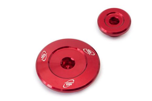 YAMAHA YZF 250 01-13 YZF 400 426 450 98-05 WRF 250 01-02 ALUMINIUM ENGINE PLUG KIT RED