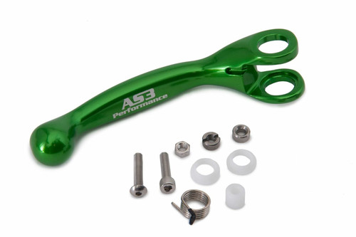 AS3 PERFORMANCE FACTORY SERIES FLEXI LEVERS REPLACEMENT FRONT BRAKE LEVER GREEN