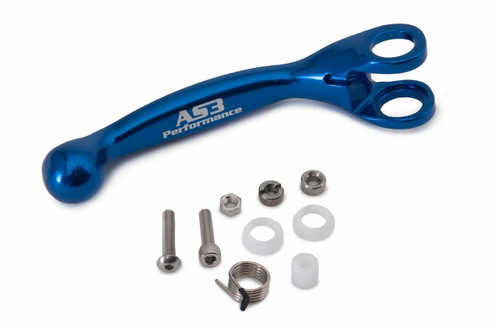 AS3 PERFORMANCE FACTORY SERIES FLEXI LEVERS REPLACEMENT FRONT BRAKE LEVER BLUE