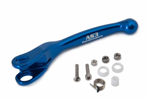 AS3 PERFORMANCE FACTORY SERIES FLEXI LEVERS REPLACEMENT CLUTCH LEVER BLUE