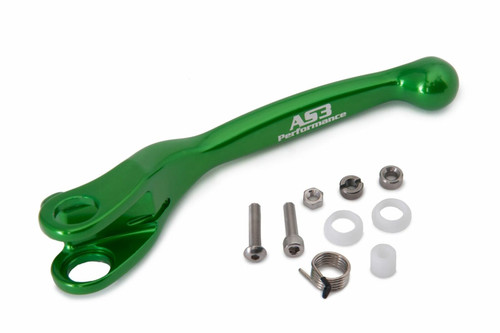 AS3 PERFORMANCE FACTORY SERIES FLEXI LEVERS REPLACEMENT CLUTCH LEVER GREEN