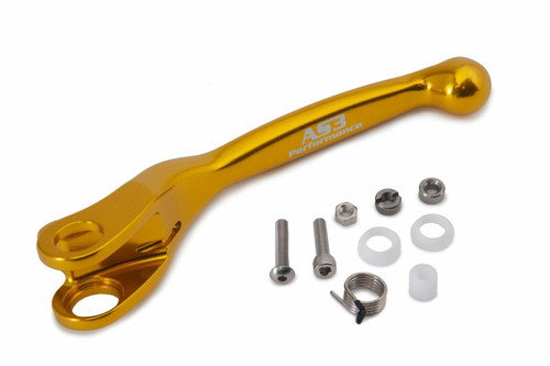 AS3 PERFORMANCE FACTORY SERIES FLEXI LEVERS REPLACEMENT CLUTCH LEVER YELLOW