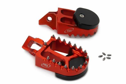 KTM 125 150 250 350 450 SX SXF 16-20 300 500 EXC 17-20 AS3 SUPERMOTO FOOT PEGS ORANGE