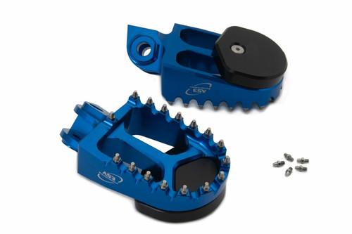 HUSQVARNA TC FC FS 125 250 350 450 501 14-15 FE 14-16 AS3 SUPERMOTO FOOT PEGS BLUE